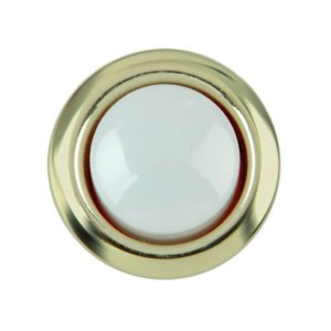 DH1202L Gold Trim Wired Button Center Push Replacement with White Center